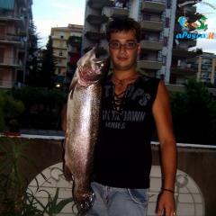 Trota Iridea del peso di 5 Kg catturata a Giffoni, località Vassi (gestione FIPSAS)