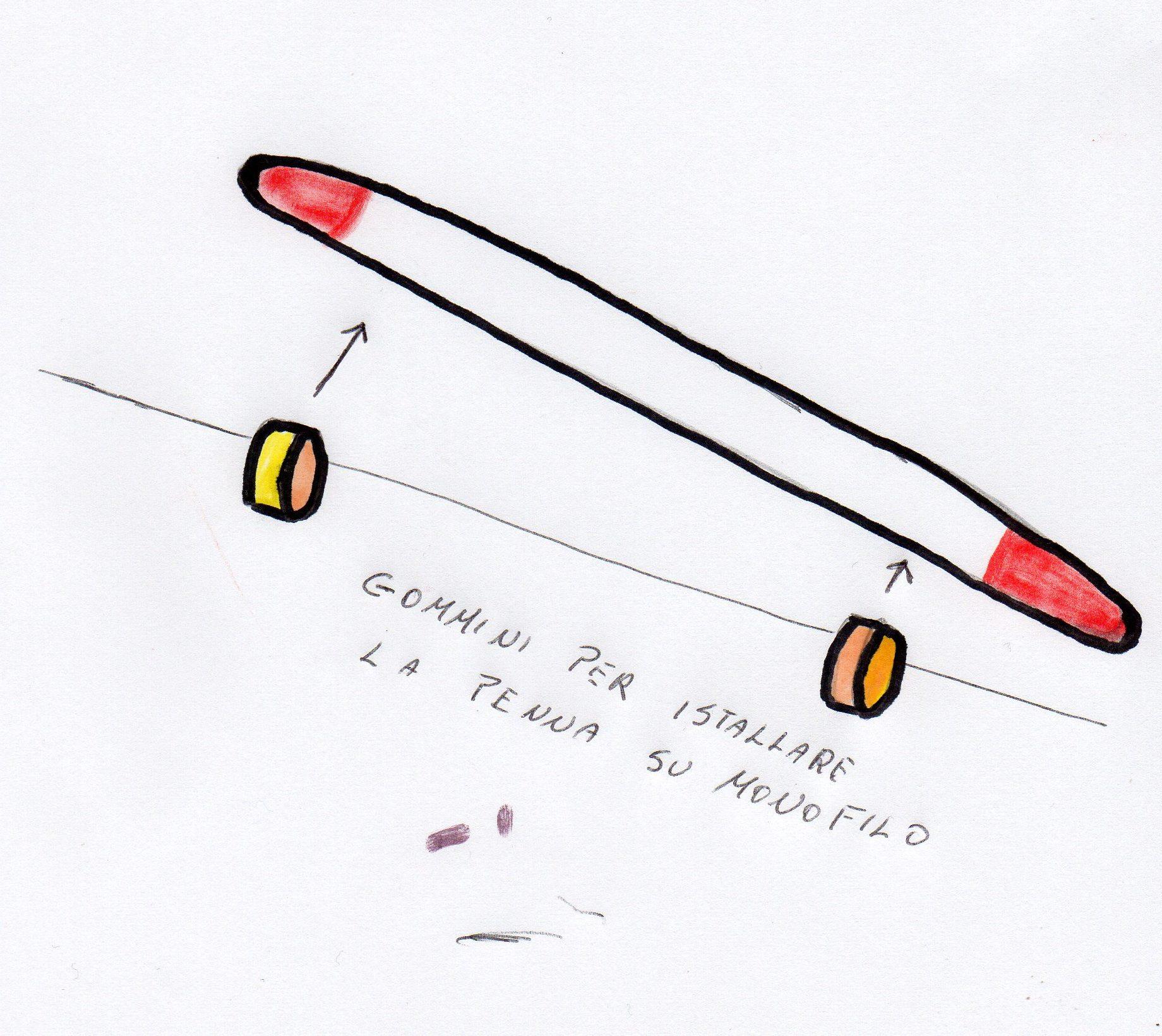 Come fissare la penna di pavone alla lenza