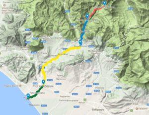 Mappa del fiume picentino
