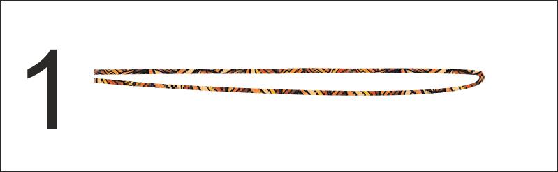 """Passo 1- Disporre il filo a forma di """"U"""", raddoppiandone i capi"""