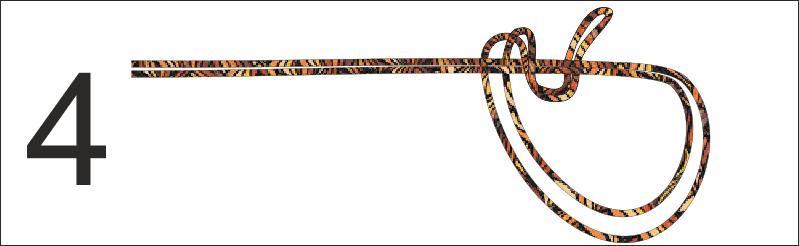 Passo 4 - Uscire dal cerchio con la parte ad U del filo e realizzare una spira intorno al filo