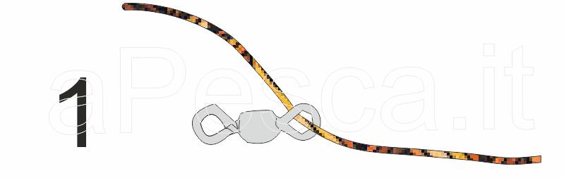 Fase 1 - Far passare il filo attraverso un anello della girella