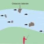 Le possibili posizioni delle trote. Leggere l'acqua vuol dire osservare il fiume per individuarle.