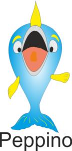Mascotte di apesca. Il pesce Peppino
